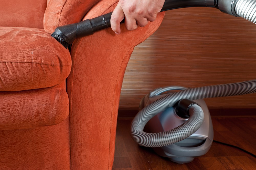 vacuum sofa - How to Clean Your House Professionally In 5 Hours
